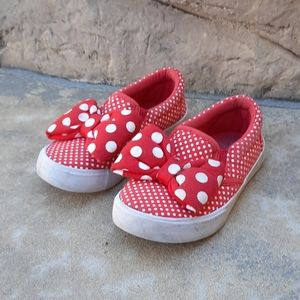 Disney Minnie Mouse 11 12 slip on shoes